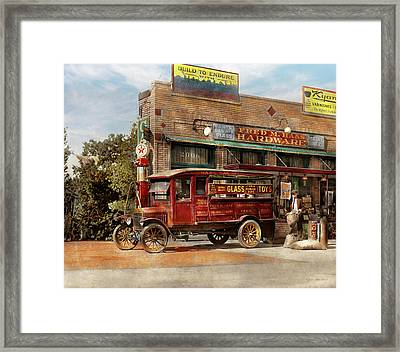 Truck - Delivery - Haas Has It 1924 Framed Print by Mike Savad