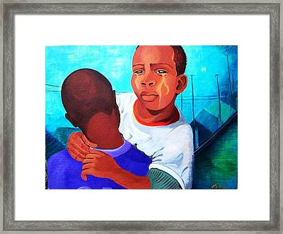 True Brotherly Love Framed Print by Kenji Tanner