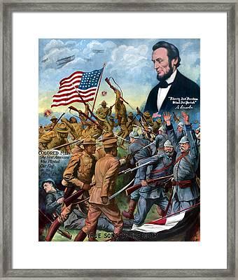 True Sons Of Freedom -- Ww1 Propaganda Framed Print by War Is Hell Store