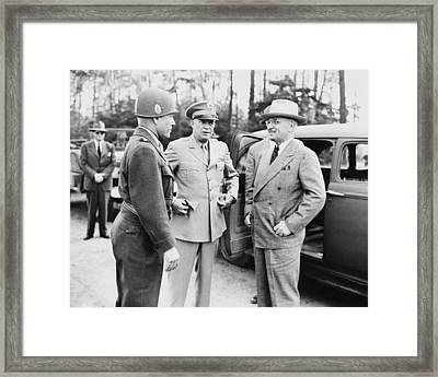 Truman Eisenhower And Hickey  Framed Print by War Is Hell Store