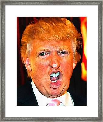 Trump Framed Print by Anthony Caruso