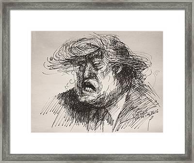 Trump Harmful Ignorant Framed Print by Ylli Haruni