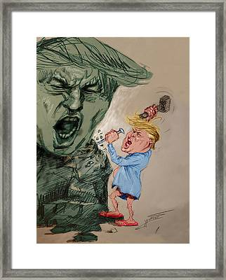 Trump Shaping The Future  Framed Print by Ylli Haruni