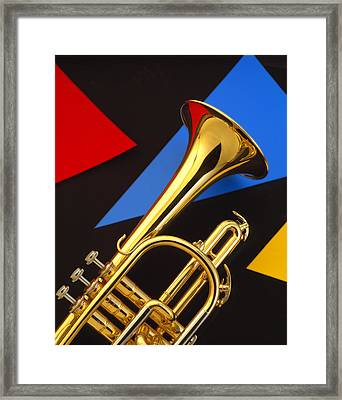 Trumpet And Triangles Framed Print by Utah Images
