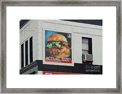 Truth In Advertising Framed Print by Joe Jake Pratt
