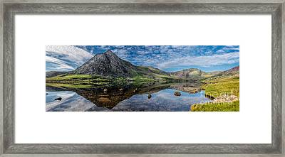 Tryfan And Lake Ogwen Framed Print by Adrian Evans