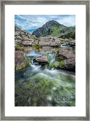 Tryfan Stream Framed Print by Adrian Evans