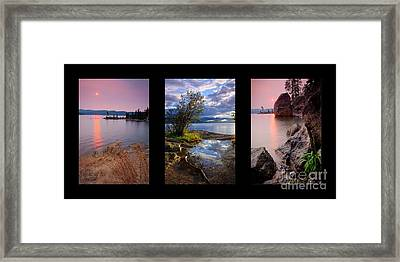 Tubbs Hill Trio Framed Print by Idaho Scenic Images Linda Lantzy