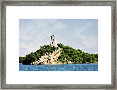 Tucker Tower Framed Print by Lana Trussell
