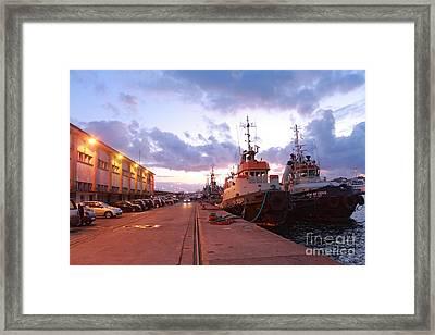 Tug Boats Framed Print by Gaspar Avila