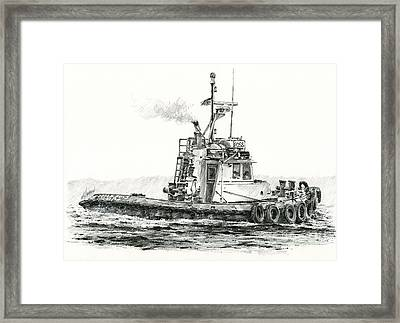 Tugboat Kelly Foss Framed Print by James Williamson