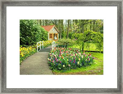 Tulip Cottage  Framed Print by Rob Hawkins