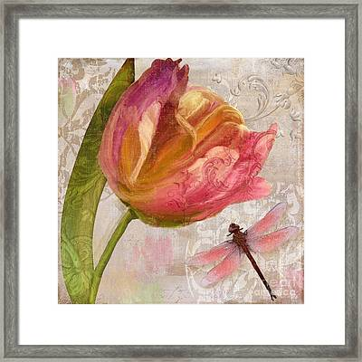 Tulip Tempest I Framed Print by Mindy Sommers