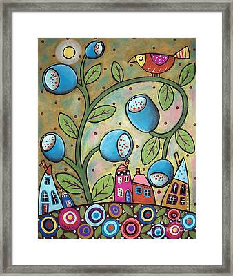 Tulip Town Framed Print by Karla Gerard