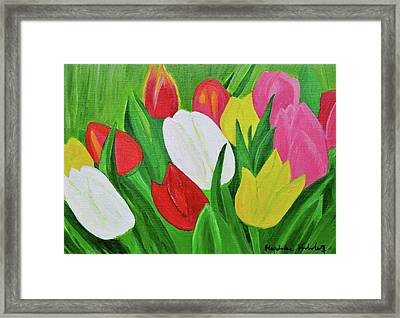 Tulips 2 Framed Print by Magdalena Frohnsdorff