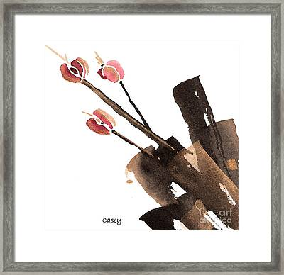 Tulips Three Framed Print by Casey Shannon