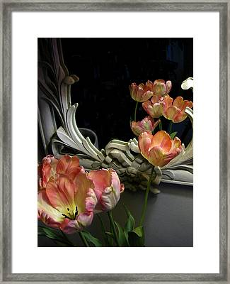Tulips Framed Print by Vari Buendia