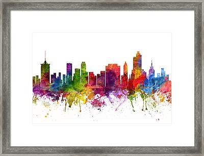 Tulsa Cityscape 06 Framed Print by Aged Pixel