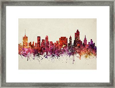 Tulsa Cityscape 09 Framed Print by Aged Pixel