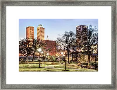 Tulsa Oklahoma Along The Pathway Framed Print by Gregory Ballos