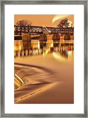 Tulsa Oklahoma Bridge - Liquid Gold #3 Framed Print by Gregory Ballos