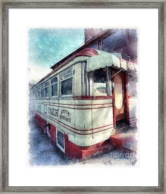 Tumble Inn Diner Claremont New Hampshire Framed Print by Edward Fielding