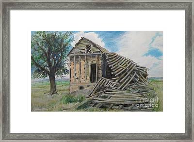 Tumbled Down House Framed Print by Jeanette Skeem