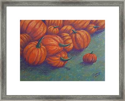 Tumbled Pumpkins Framed Print by Joann Renner