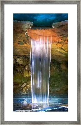 Tumbling Waters Framed Print by Karen Wiles