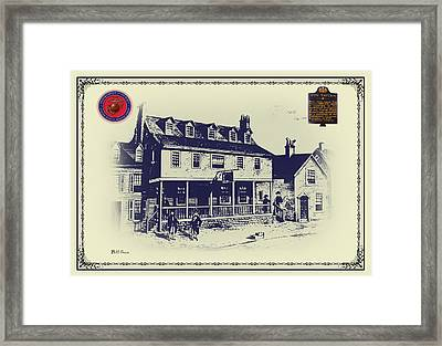 Tun Tavern - Birthplace Of The Marine Corps Framed Print by Bill Cannon