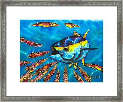 Tuna And  Squid II Framed Print by Daniel Jean-Baptiste