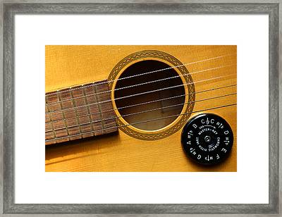 Tuned For Play 3 Framed Print by Mary Bedy