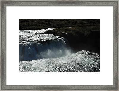 Tungufljot River And Faxi Falls Framed Print by David Halperin