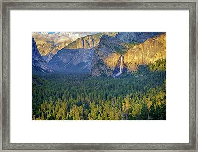 Tunnel View At Sunset Framed Print by Rick Berk