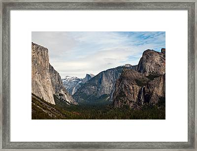 Tunnel View Yosemite Framed Print by Michael  Ayers