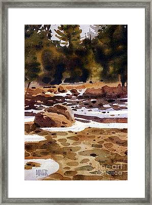 Tuolumne River Freeze Framed Print by Donald Maier