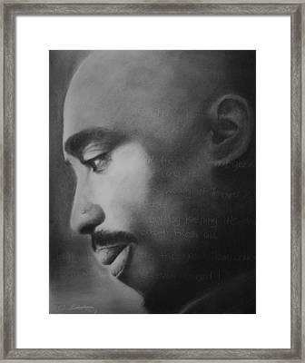 Tupac Rose Framed Print by Adrian Pickett