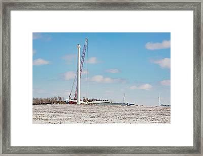 Turbine Construction Framed Print by Todd Klassy