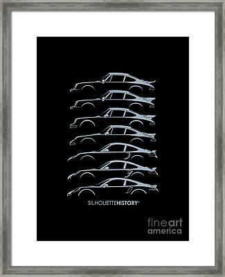 Turbo Sports Car Silhouettehistory Framed Print by Gabor Vida