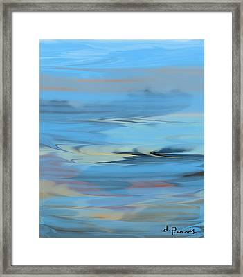 Turbulence Framed Print by D Perry