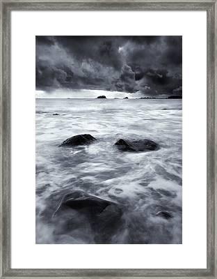 Turbulent Seas Framed Print by Mike  Dawson