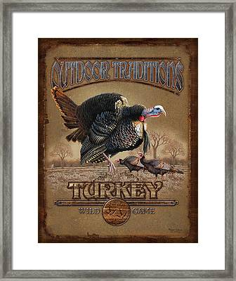 Turkey Traditions Framed Print by JQ Licensing