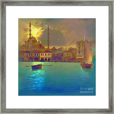 Turkish  Moonlight Framed Print by Saiyyidah Seema  Z