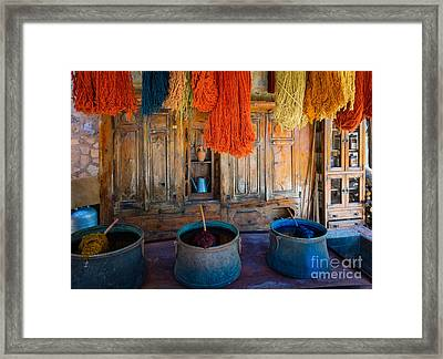 Turkish  Rug Maker Framed Print by Inge Johnsson