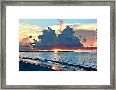 Turks And Caicos Grace Bay Beach Sunset Framed Print by Amy McDaniel