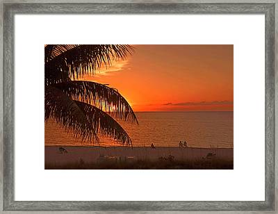 Turks And Caicos Sunset Framed Print by Stephen Anderson