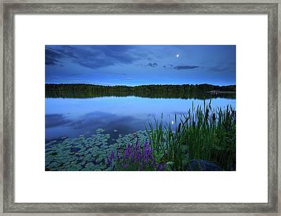 Turner Moon Framed Print by Bryan Bzdula