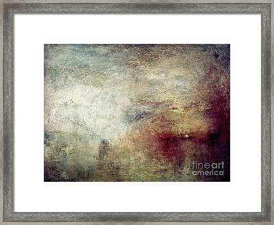 Turner: Sun Setting, C1840 Framed Print by Granger