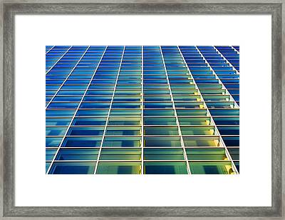 Turquoise Building Framed Print by Todd Klassy