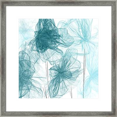 Turquoise In Sync Framed Print by Lourry Legarde
